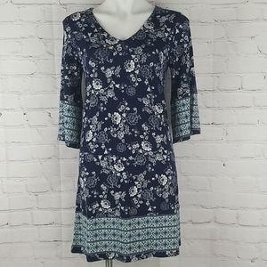 Stitch Fix Skies Are Blue Wren Knit Floral Dress